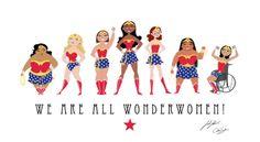 We are all Wonder Women! i ci ou sur etsy