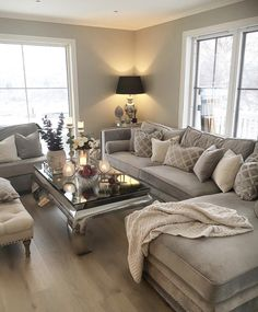Living Room Decor Cozy, Living Room Grey, Bedroom Decor, House Layouts, Living Room Designs, Sweet Home, Lounge, Interior Design, Decorate Apartment