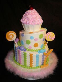 Cupcake and Candy Cake