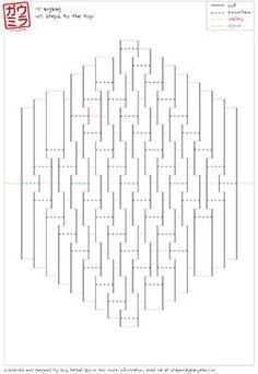 "DIY Template - ""9x9 ZigZag"" kirigami paper sculpture"