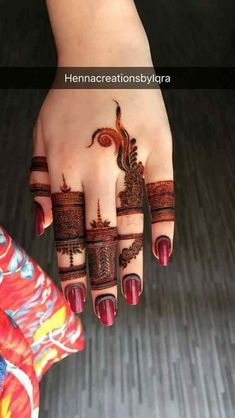 Beautiful Easy Finger Mehndi Designs Styles contains the elegant casual and formal henna patterns to try for daily routines, eid, events, weddings Henna Hand Designs, Mehndi Designs Finger, Indian Henna Designs, Mehndi Designs Book, Modern Mehndi Designs, Mehndi Design Pictures, Mehndi Designs For Girls, Wedding Mehndi Designs, Mehndi Designs For Fingers
