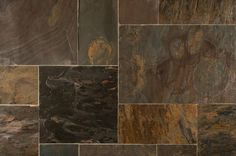 BuildDirect – Slate Tiles - Versailles Pattern – California Gold - Multi View