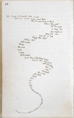 Handwritten pages from Alice's Adventures Under Ground, illustrated by Lewis…
