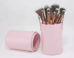 A twelve-piece makeup brush set, including brushes for the face, eyes, and lips. #makeupbrushset #makeup