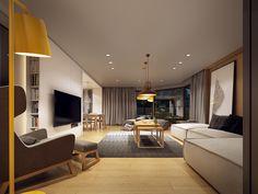 Projekt wnętrza domu // house interior design Lok. // loc.: Toruń Powierzchnia // area: 70m² Rok // year: 2016