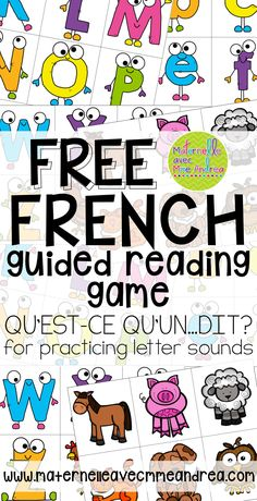 How To Learn French Classroom Learn French Fast Fun Guided Reading Lessons, Reading Games, French Teacher, Teaching French, Teaching Time, Teaching Spanish, How To Speak French, Learn French, French Alphabet