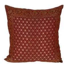 Pillowcase Cushion Covers Silk Handcrafted in India 18 x 18 Inches Sofa Cushion Covers, Throw Pillow Covers, Pillow Cases, Throw Pillows, Pattern Fashion, Canadian People, Cushions, Fancy, India