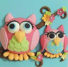 Owls - by ShereensCakes @ CakesDecor.com - cake decorating website