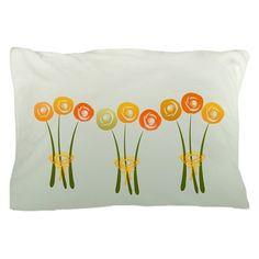 Pastels Orange Roses Pillow Case $14.95