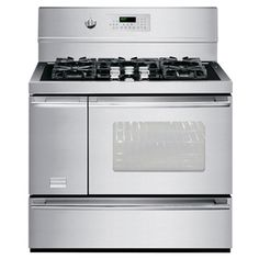 Frigidaire Professional 5-Burner Freestanding 5.4-cu ft Self-Cleaning Convection Gas Range (Stainless Steel) (Common: 40-in; Actual 40.13-in)