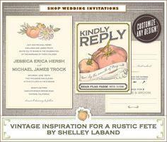 vintage seed packet invitation