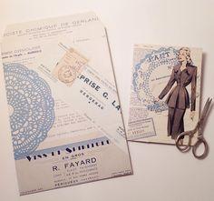 Gek op oude rekeningen! ( van een ander, dat dan weer wel ;) #oldfrenchbills #oldpaper #frenchnotes #frenchpaper #oldbills #vintage #vintagepaper #france #french #oldblue #paper #scissors #diy #cards #and #envelope #elkedagpost #everydaymail #mail #loveart