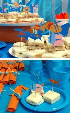 fish picks & napkin wraps