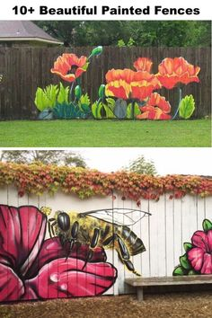 Garden Art 63628 Beautiful Painted Fences That Will Inspire You To Do This World Brighter – My Street Inspiration Superb backyard decor ideas Garden Fence Art, Diy Fence, Backyard Fences, Backyard Landscaping, Fence Ideas, Fence Design, Garden Design, Landscape Design, Painted Fences