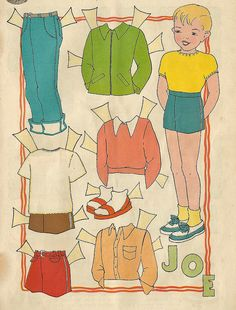 Vintage Paper Doll, Joe by shelece, via Flickr
