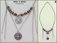 ☆☆ ROCK N' ROSES ☆☆: ::..THE ELEMENTS GREY & GOLD NECKLACE..::   Περιγρ...
