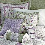 Purple and Green Comforter (bonus free quilt)