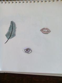 Feather eye and lips