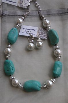Chunk Turquoise and Pearl