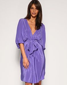 "Purple Kimono Dress. ""Hey guys, sorry I'm late. I kinda rolled out of bed, threw on my housecoat an grabbed a cab."""