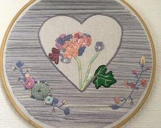 """PLEASE DON'T COPY Number 4, Hydrangea hand made embroidery 8"""" / 20 cm hoop hand embroidery . Hydrangea, flowers in pastel art & fiber art for wall decor #hydrangeas #embroidery #handmade #parisianpastelstitches"""