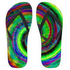 Tie Die Swirl Flip Flops