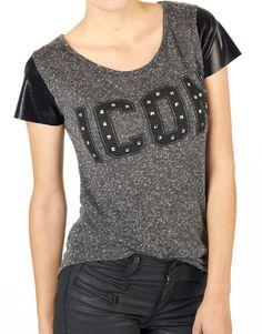 Catwalk Junkie T-shirt - Melange Dark Grey- Heb ik:)