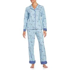 Disney By Munki Munki Lady and the Tramp Flannel Classic Pajama Set ($48) ❤ liked on Polyvore featuring intimates, sleepwear, pajamas, blue, flannel sleepwear, flannel pjs, long sleeve pajamas, flannel pajama set and flannel pajamas