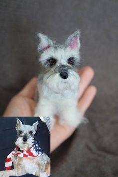 #JanetsNeedleFelting #DogPortrait #DogMemorial #furbaby #miniSchnauzer