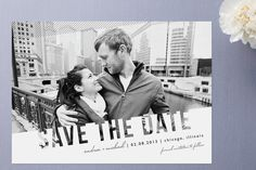Simply See Through Save the Date Cards - Could be cool with capital or campus in background
