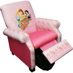 Disney - Princess Jeweled Garden Deluxe Recliner #DisneyPrincessWMT This would be so cute with a little floor lamp for reading in her room.
