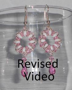 Crystal Wreath Earrings Beading Video Tutorial  (Remake) by Ezeebeady