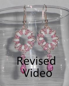 Crystal Wreath Earrings Beading Video Tutorial  (Remake) by Ezeebeady