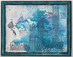 "Leigh S-B Designs: ""A View From A Window"" Fantasy Art Card featuring Lost Coast Designs Border Stamps!"