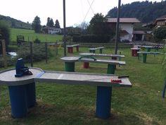 Lust auf eine Runde #Pitpat? Das lustige Spiel ist eine Mischung aus #Minigolf und #Billard und bringt Riesenspaß für die ganze Familie. Die Pitpat-Anlage im #Freizeitpark Zahmer Kaiser steht für dich bereit. #Zahmerkaiser #Kaiserwinkl #Walchsee #Tirol Kaiser, Picnic Table, Outdoor Furniture, Outdoor Decor, Home Decor, Miniature Golf, Funny Games, Amusement Parks, Circuit