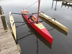 Expanded Trika Design Creates the TriRaid 560 Trimaran Sailing Kayak, Kayak Boats, Canoe And Kayak, Kayak Fishing, Saltwater Fishing, Catamaran, Folding Canoe, Sailboat Interior, Outrigger Canoe