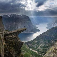 Trolltunga, Norway I'm still looking for someone to go on the Norwegian Fjord cruise with me!!!!!