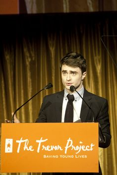 "Daniel Radcliffe was Trevor's Hero Award Honoree in 2011 at Trevor Live NYC. ""I think of everything I've done in my career so far, my association with Trevor is the thing I'm proudest of."" -Daniel Radcliffe"