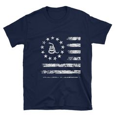 Don't tread on me - Short-Sleeve Unisex T-Shirt (white print)