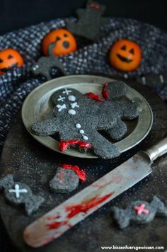 Schwarze Sesam Kekse für Halloween