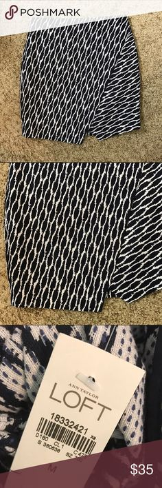 Loft jacquard skirt Brand new with tags! Super cute and trendy! LOFT Skirts