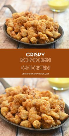 Popcorn Chicken made with a secret ingredient for super light and crisp texture. Served with honey mustard or your choice of dipping sauce, they're absolutely addicting!