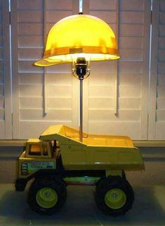 Tipper lamp - house decorations - Tipper lamp # # Informations About Kipper-Lampe – Hau - Boys Construction Room, Truck Bedroom, Boys Truck Room, Luminaire Original, Ideas Habitaciones, Antique Lamps, New Room, Kids Bedroom, Bedroom Ideas