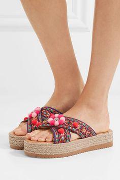 7b9ea6a7dd4 Mabu by Maria BK - Violette embellished woven espadrille sandals