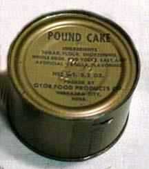 C rations pound cake, one  of my favorites