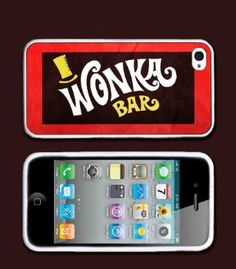 Amazon.com: Willy Wonka Bar Design iPhone 4 Case or iPhone 4s Case Silicone Rubber case