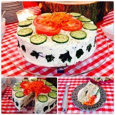 Lekkere broodtaart vandaag voor mijn verjaardagsfeestje gemaakt. Is weer eens wat anders dan een stukje vlaai.