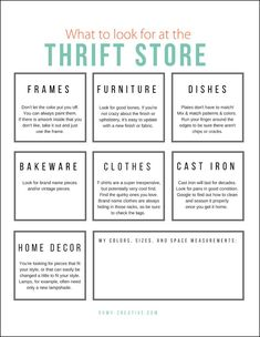 Thrift Store Shopping Guide Printable | OHMY-CREATIVE.COM | Goodwill Store | Thrifting | Goodwill Makeover | Free Printable List | Thrift Store List | Check List #thrifting #freeprintable #goodwill
