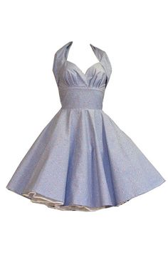 Blue Gingham Halterneck Swing Dress (LOVE this neckline!)