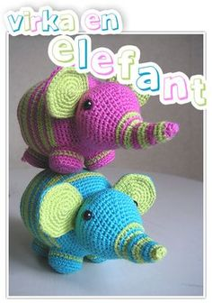 Så... har jag äntligen lyckats renskriva mönstret *pustar ut* Hoppas nu bara att allt har blivit rätt och att det går att förstå sig på det! Posta gärna länkar under detta inlägg om ni gör elefanter…